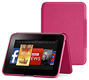 Amazon Kindle Fire HD Standing Leather Case (2nd Generation - 2012 release), Fuchsia