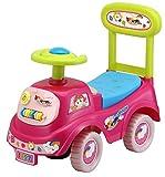 Rutschauto in 10 verschiedenen Modellen - Ein guter und preiswerter Aufsitzwagen Rutschwagen Lauflernwagen Kinderfahrzeug, Modell:Pink with flowers