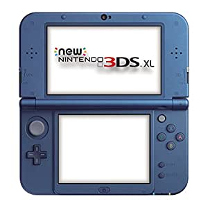 console new nintendo 3ds xl blue metallic import anglais jeux vid o. Black Bedroom Furniture Sets. Home Design Ideas