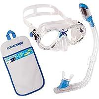 Cressi Marea - Conjunto Combo de Snorkel para niños, Color Transparente/Azul, Talla única