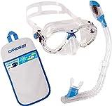 Cressi Marea - Conjunto combo de snorkel para niños, color transparente / azul,...