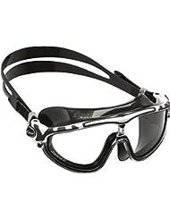 Cressi Skylight Swim Goggles Occhialini Premium per Nuoto, Piscina, Triathlon e Sport Acquatici, Unisex Adulto, Nero/Bianco/Nero