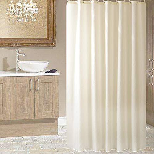 Beige Haken (Ufengke Duschvorhang Beige Weiß Mit 12 Haken, Polyester Wasserdicht Anti Schimmel Für Badezimmer,72