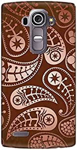 The Racoon Lean printed designer hard back mobile phone case cover for LG G4. (Paisley Co)
