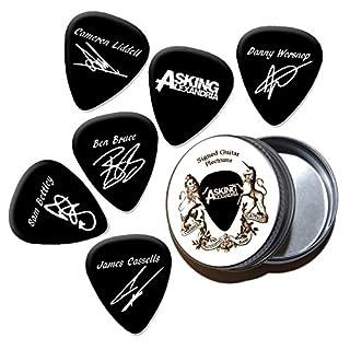 Asking Alexandria Black Gitarren-Plektren mit Zinn Tin (HB)
