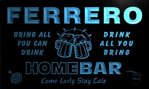 q14387-b-ferrero-family-name-home-bar-beer-mug-cheers-neon-light-sign