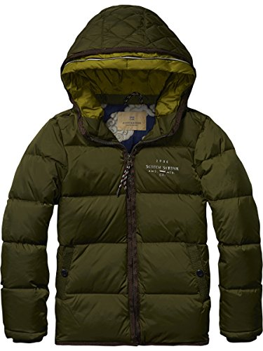 Scotch Shrunk Basic Nylon Mix Down Jacket, Giacca Bambino, Grün (Military 360), 128