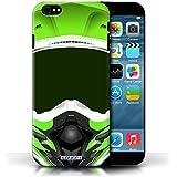 Coque de Stuff4 / Coque pour Apple iPhone 6 / Motocross/Vert Design / Casque Moto Collection