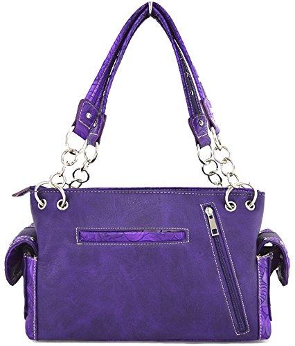 Blancho Biancheria da letto delle donne [Aquila Stile] PU cinturino in pelle portafoglio cerniera borsa del supporto di carta viola Handbag-Viola