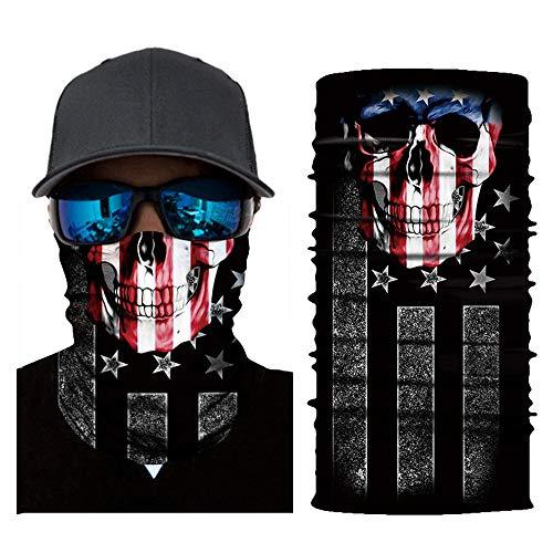 Face Mask,MMLC Fishing Face Shields Multifunktionstuch Maske Clown Halstuch Halloween Kostüme Motorrad Ski Jagen Fahrrad (A)