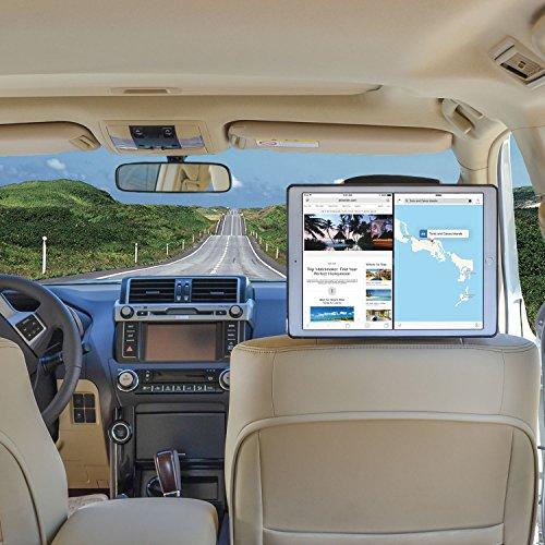 Kfz Halterung iPad Pro Schnellverschluss Auto Kopfstützenhalterung - Schwarz von TFY
