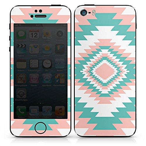 Apple iPhone SE Case Skin Sticker aus Vinyl-Folie Aufkleber Ethno Frühling Muster DesignSkins® glänzend
