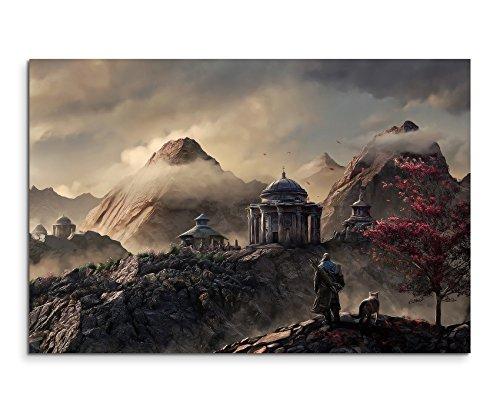 aegon-fantasy-art-wandbild-120x80cm-xxl-bilder-und-kunstdrucke-auf-leinwand