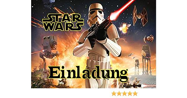 12 Umschl/äge AMA8 TV-24 Star Wars Einladungskarten 12er Set inkl