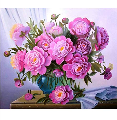 OKOUNOKO Rose Oil Paint Painting by Numbers DIY Picture Drawing Coloring On Canvas Painting by Hand Digital Coloring Wall Decoration Sin Marco 40X50Cm