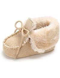 Zapatos Bebe Invierno Fossen Botines bebé recién nacidos Niña Niño Botas de Nieve Primeros Pasos Calientes Recien Nacidos 0-18 Mes