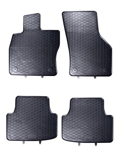 AME Automatten-Experts Auto-Gummimatten Fußmatten in Schwarz Geruch-vermindert und passgenau 815/4C