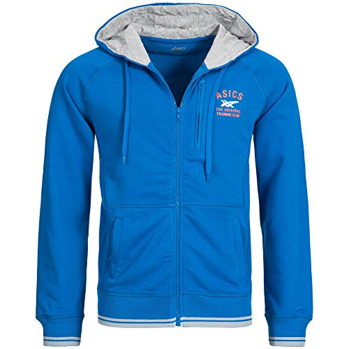 Asics Uomo Felpe Full Zip Men, Blau, XL