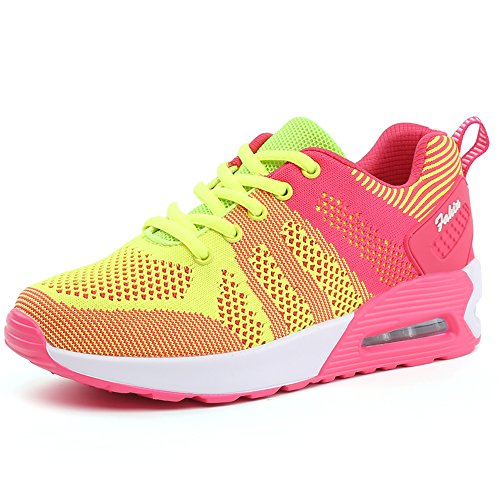 Fexkean Damen Mädchen Laufschuhe Low Top Sportschuhe Sneaker