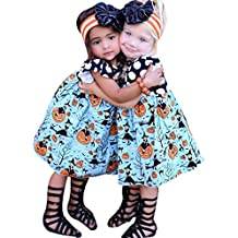 Hukz ragazze abiti Toddler Kids Baby Girls Halloween zucca Cartoon Princess Dress Outfits clothes