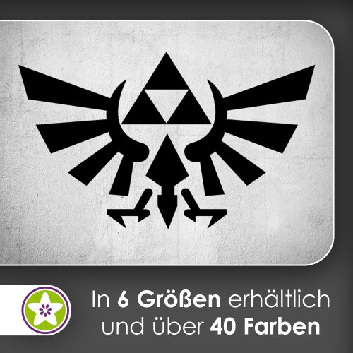 Triforce sticker mural autocollant, en 6 tailles, 91_gold, 96 x 58 cm