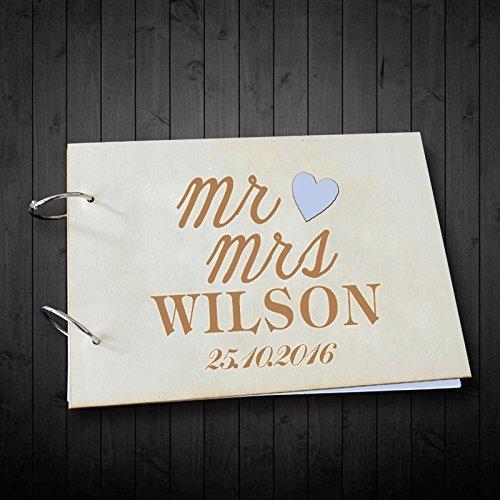 Und Herr Album Frau Foto (Herr und Frau Herz Accent Hochzeit Gästebuch Alternative Scrapbook Foto Alben personalisierbar 20,3x 30,5cm)