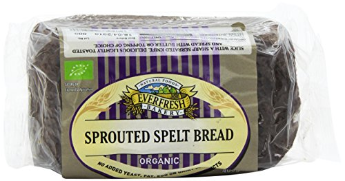 Everfresh Organic Sprouted Spelt Bread 400 g (Pack of 8)