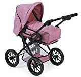 Bayer Chic 2000 560 70 Kombi-Puppenwagen Leni, Jeans Rosa