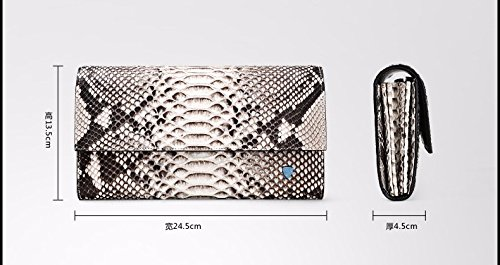 lpkone-Les modèles Python lady sac à main sac à main sac sac femme motif peau de serpent partie package Solid color