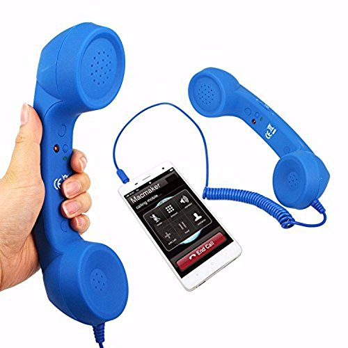 Voltac Coco Phone Radiation Free Phone 3.5mm Wired Retro Handset Receiver (Color May Vary) Model 400170