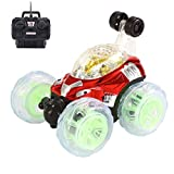 Flash Light Musique des effets spéciaux télécommande de voiture, Mamum et rotatifs à 360° Flips avec couleur Flash et de la musique pour enfants Camion de télécommande Taille unique Red