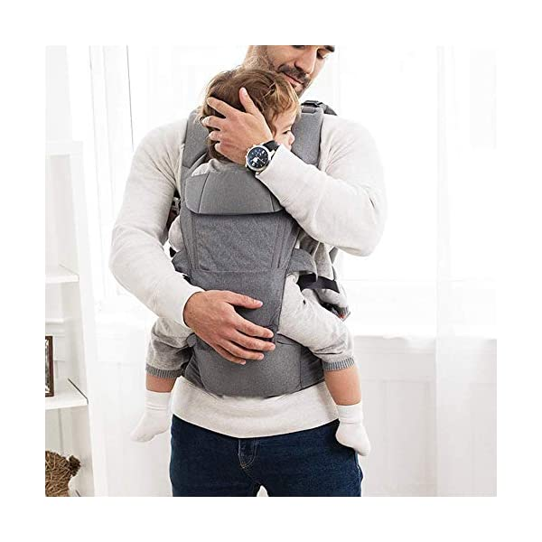 KOIUJ Seat Ergonomic 3D Baby Carrier 2 in 1 Soft Baby Hipseat Wrap Carrier Front and Back for Outdoor Travel Waist Stool for Women Men Newborn Baby Infant (Gray) KOIUJ ※The soft cotton makes the baby comfortable in all positions; The baby's back has a full range of head support so the baby's head can be well protected. ※The baby carrier is made of mesh and polyester fabric so each baby can breathe. Adjustable straps and straps are suitable for every parent to use in everyday use. It will make you feel most comfortable. Suitable for 3-36 months. ※There is a pocket next to the single hip seat so that you can place daily outdoor essentials. Two baby bibs are attached to the shoulder strap for babies and parents. 2
