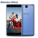 Handy Ohne Vertrag, Blackview P2 6000mAh 4GB RAM+64GB ROM Dual SIM Handy,8 + 13 MP SAMSUNG Kameras 5.5 Zoll FHD Touch Display, Android 7.0 4G Smartphone mit 9V 2A Schnellladung,Fingerprint, OTG Funktion,5G Wifi-Blau