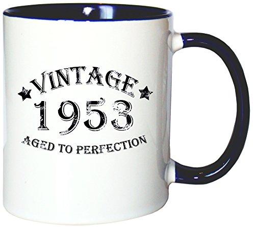 Mister Merchandise Pote del café Taza Vintage 1953 - Aged to Perfection jarra té copa, muchos colores
