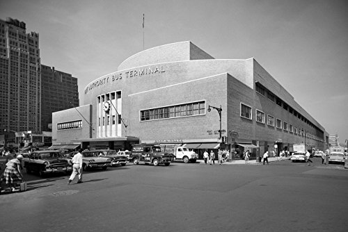 Vintage Images - 1950s Port Authority Bus Terminal 8Th Avenue 40Th and 41St Streets New York City Usa Kunstdruck (60,96 x 91,44 cm) - New York Bus Terminal
