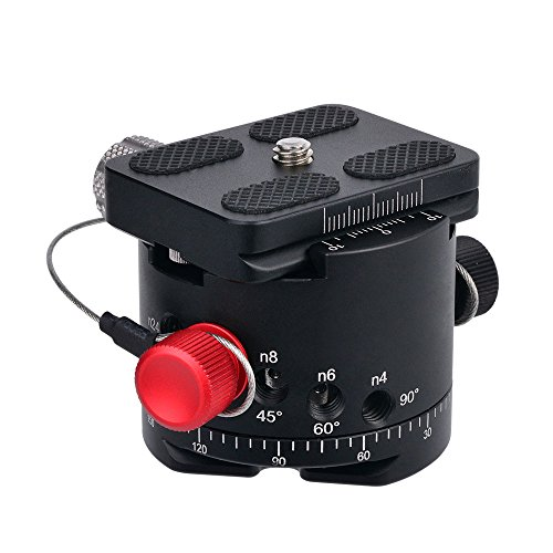 Daskoo DH-50 Panoramic Indexing Rotator mit Integrale Klemme + Schnellwechselplatte Aluminium Legierung Für DSLR Kamera und Stativkopf