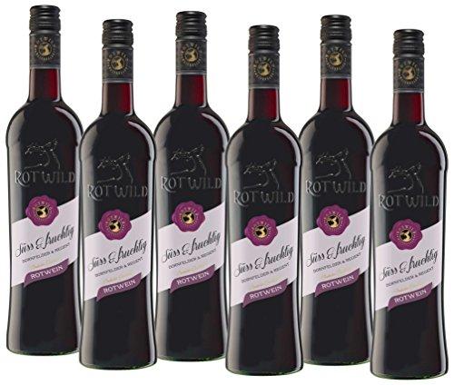 RotwildDornfelder& Regent Rotwein süß und fruchtig (6 x 0.75 l)