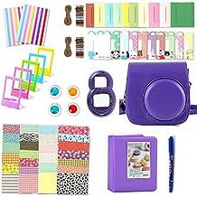 Wen & Cheng 10in 1kit di accessori per Fujifilm INSTAX mini 8/8S: custodia per fotocamera/album/selfie lente/filtri/cornici per tavolo/da parete Frame/adesivi/angolo colorate adesivi/penna