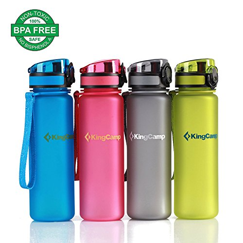 KingCamp 500ml TRITAN Botella de Agua Boca Ancha Anti Fuga Libre BPA T