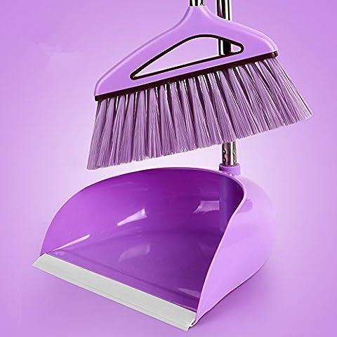 Ensemble de balai et de poubelle Nouveau sac à main violet magique, violet