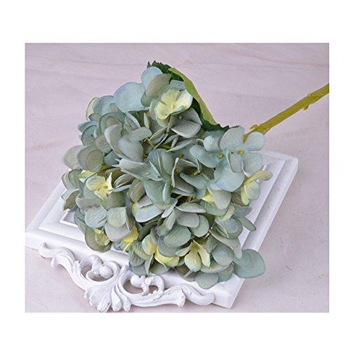 Blumen Künstliche Hortensie Blumen Dekoration Künstliche Hydrangeablume Hochzeit Dekor Blumenstrauß (Türkis) (Türkis-mittelstücke)
