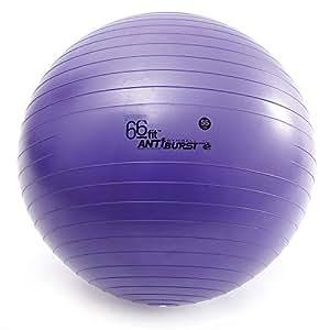 66fit Gym Ball & Pump 55cm - Anti Burst Exercise Fitness Yoga Swiss Birthing