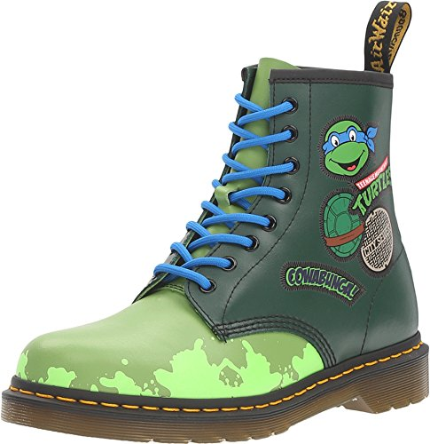 Dr.Martens Womens Leo 1460 8-Eyelet Green Leather Boots 37 EU -