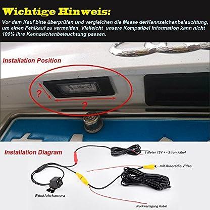 Navinio-Auto-Rckfahrkamera-Farbkamera-Einparkkamera-Nachtsicht-Einparkhilfe-Wasserdicht-fr-VW-Caddy-B5-B6-Passat-3C-VariantTouran-VW-Golf-IVGolf-PlusSharanSkoda-Superb-I-Multivan-T5