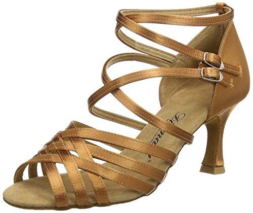 Diamant Diamant Damen Latein Tanzschuhe 108-087-379, Chaussures de Danse de salon femme Braun (Dark Tan)