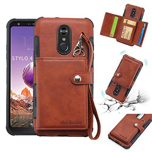 c9dc90c11129 LG Stylus4 PU Leather + TPU Multi-Functionality Wallet Case, Credit Card  Slots Holder Cash Money Pocket Durable Reinforced Corner Anti-Skid  Shockproof ...