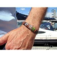 Plus de 50 EUR Bracelet Bracelet Bracelet en cuir marron, Enna Classic N. 22 3eebed