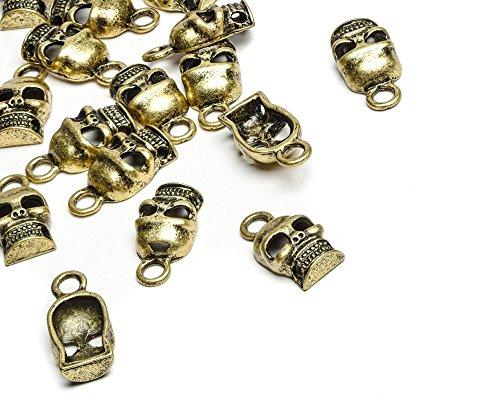 Beads Unlimited Metal Steampunk diseño de calavera, 20 unidades,...