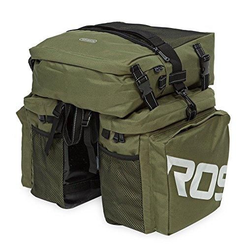 LifePlus Roswheel 37L Wasserdicht Durable 3 in 1 Fahrrad hinten Gepäcktasche Grün