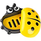 ONEPEARL(LABEL) Portable Ladybird Travel Soap Storage Box/Dish/Holder for Bathroom (Yellow)